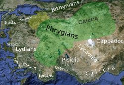 Map of phrygia and neighbouring people